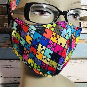 Autism awareness face mask 3 layers